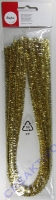 Glimmer-Chenilledraht 50cm 9mm 10 Stück gold