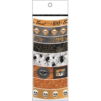 Martha Stewart Crafts Halloween Washi Tape 8 Assorted Rolls - Witching Hour Orange Boo