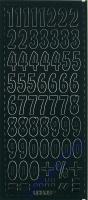 Stickerbogen 123 23x10cm Höhe 21mm schwarz