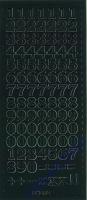 Stickerbogen Zahlen 23x10cm Höhe 12mm schwarz