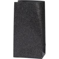 Glitzerpapiertüten für Tütenstern 8 Stück schwarz