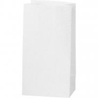 Glitzerpapiertüten für Tütenstern 8 Stück weiß
