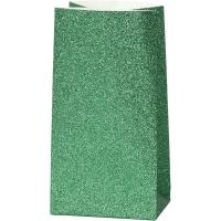 Glitzerpapiertüten für Tütenstern 8 Stück grün