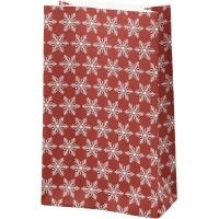 Papiertüten für Tütenstern 8 Stück Eiskristalle