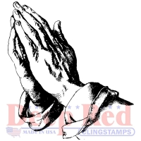 Deep Red Climgstamps - Praying Hands