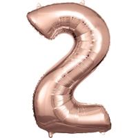 Folien-Ballon 2 roségold 86cm
