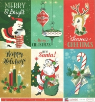A Very Merry Christmas Double-Sided Cardstock 12X12 - 4x6 Journaling cards