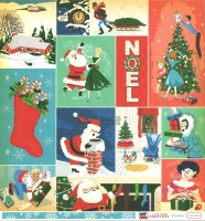 A Very Merry Christmas Double-Sided Cardstock 12X12 - Christmas Festives Journaling cards