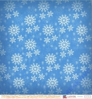 A Very Merry Christmas Double-Sided Cardstock 12X12 - Winter Snowflakes