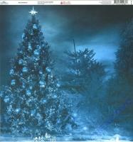 Ella & Viv Blue Christmas Single-Sided Cardstock 12X12 - Blue Christmas