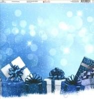 Ella & Viv Blue Christmas Single-Sided Cardstock 12X12 - Christmas Morning