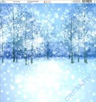 Ella & Viv Blue Christmas Single-Sided Cardstock 12X12 - White Christmas