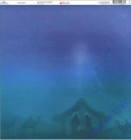 Ella & Viv Blue Christmas Single-Sided Cardstock 12X12 - A child is born