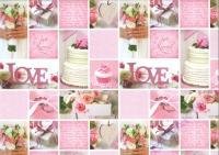 Motiv-Fotokarton 300g/qm 49,5x68cm Hochzeit Rose Motiv 01