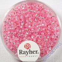 Rocailles 2,6mm ø mit Silbereinzug rosé