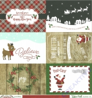 A Perfect Christmas Double-Sided Cardstock 12X12 - 4x6 journaling cards