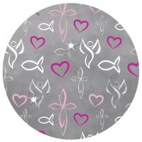 Designkarton religion pink Motiv 2