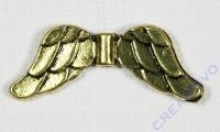 Zwischenteil Flügel altgold