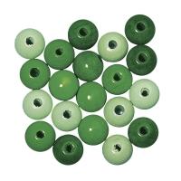Rayher Holzperlen, poliert 4mm 150St Grün-Töne (Restbestand)