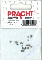 Straß-Steine flach 3,0-3,2mm 20 Stück kristall