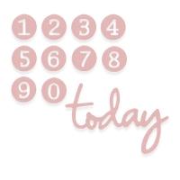 Sizzix Thinlits Die Set 11PK - Dainty Birthday Numbers