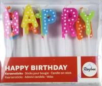 Kerzensticks Happy Birthday