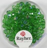 Glas-Schliffperlen, 4 mm ø irisierend smaragd