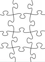 Darice Prägeschablone Puzzle