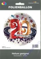 Folienballon Glückwunsch Sterne 20