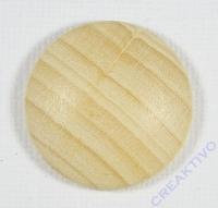 Holz-Platine, rund, gewölbt, 30 mm