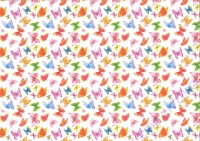 Motiv-Fotokarton 300g/qm 49,5x68cm Aquarell - Schmetterlinge
