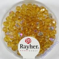 Glas-Schliffperlen, 4 mm ø irisierend topas