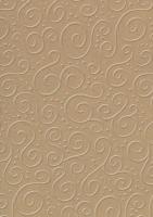 Bastelkarton Milano geprägt 50x70cm natur braun