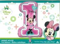 Folienballon - Ø 71cm - Minnie Mouse XL 1. Geburtstag