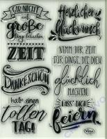Silikon-Stempel Lettering Deutsch