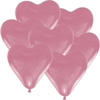 100 rosa Latex Herzballons 30cm
