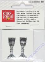 Knorr Wachskelch 33x15mm silber 2 Stück