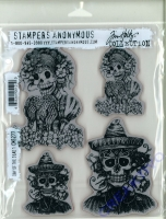 Tim Holtz Cling Stamps 7X8.5 - Day of the Daed 1