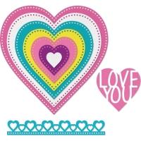 Sizzix Framelits Dies By Stephanie Barnard - Dotted hearts