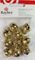 Rayher Metallglöckchen kugelförmig 19mm gold 10 Stück
