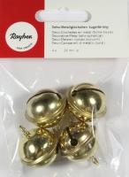 Rayher Metallglöckchen kugelförmig 24mm gold 4 Stück