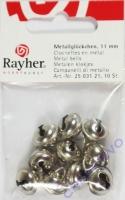 Rayher Metallglöckchen kugelförmig 11mm platin 10 Stück
