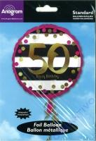 Folienballon Funkelnder Geburtstag 50