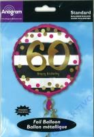 Folienballon Funkelnder Geburtstag 60