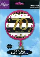 Folienballon Funkelnder Geburtstag 70