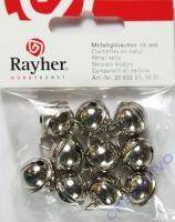 Rayher Metallglöckchen kugelförmig 15mm platin 10 Stück