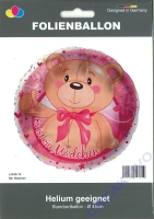 Folienballon Bär Mädchen