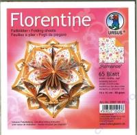 Florentine Faltblätter Romance 15x15cm 65 Blatt orange