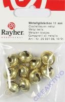 Rayher Metallglöckchen kugelförmig 11mm gold 10 Stück