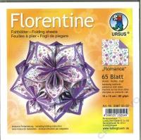 Florentine Faltblätter Romance 15x15cm 65 Blatt purple